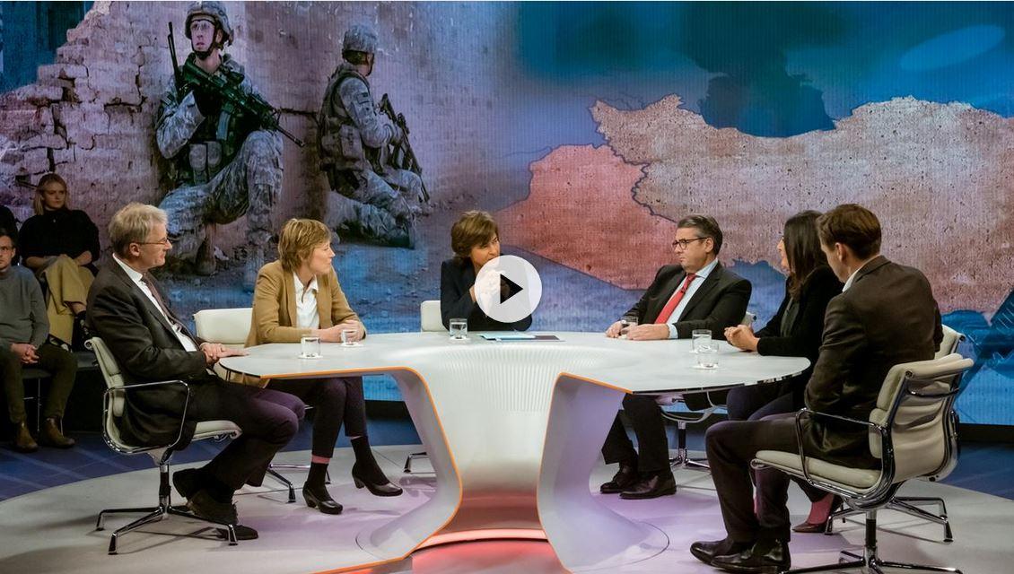 Daniel Gerlach am 9. Januar 2020 zu Gast bei »Maybrit Illner im ZDF