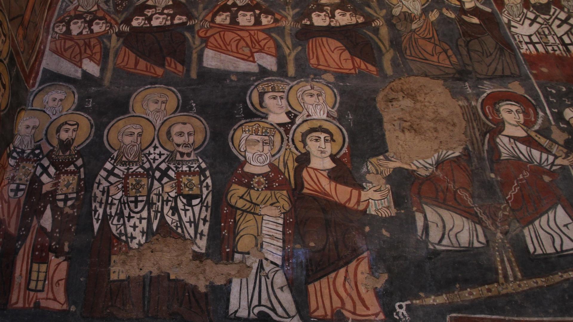 Fresken im syrischen Kloster Deir Mar Musa.