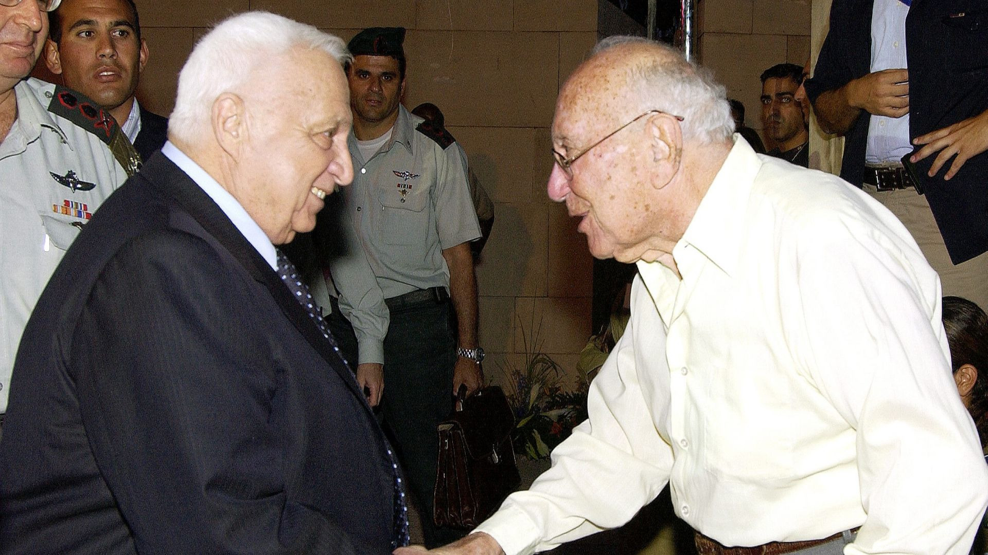 Ariel Sharon mit Meir Amit