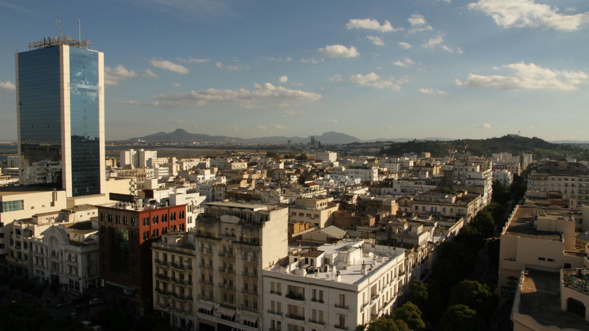 Stadtpanorama Tunis, Tunesien