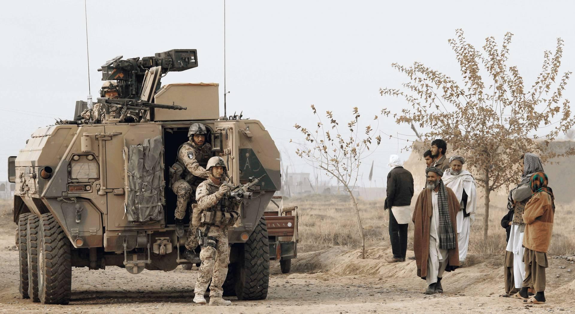 Bundeswehrsoldaten beim Einsatz in Afghanistan.