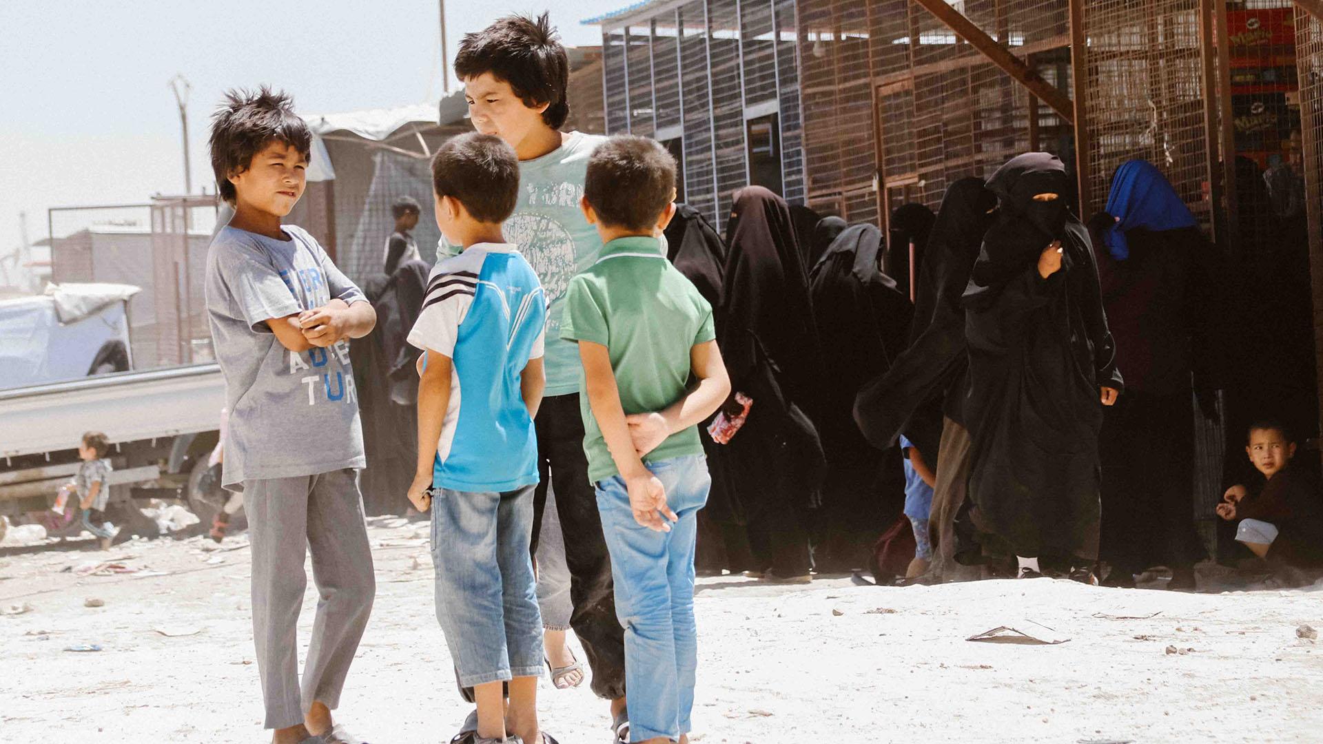 Kinder von IS-Kämpfern aus Tunesien in Lagern in Syrien
