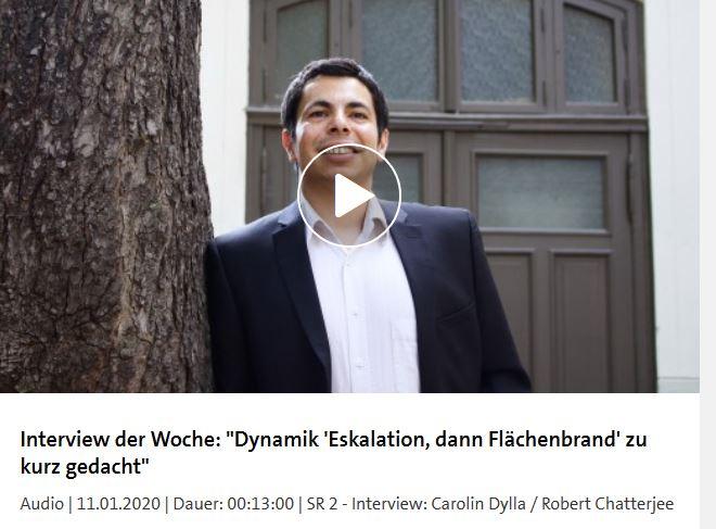 Robert Chatterjee im Interview beim Saarländischen Rundfunk